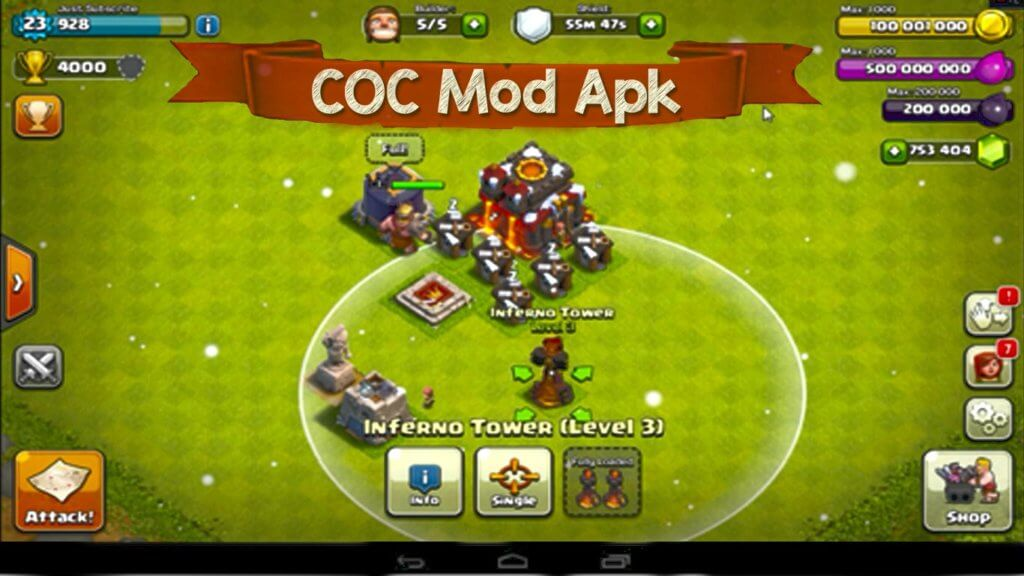 Clash Clans Mod Apk Unlimited Gems Coins % Working