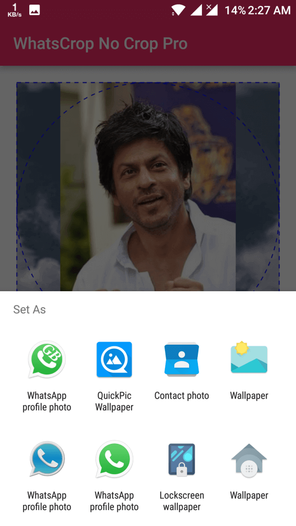 WhatsApp Profile Picture Without Crop for Android